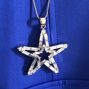 NWT Express crystal star pendant/gold necklace